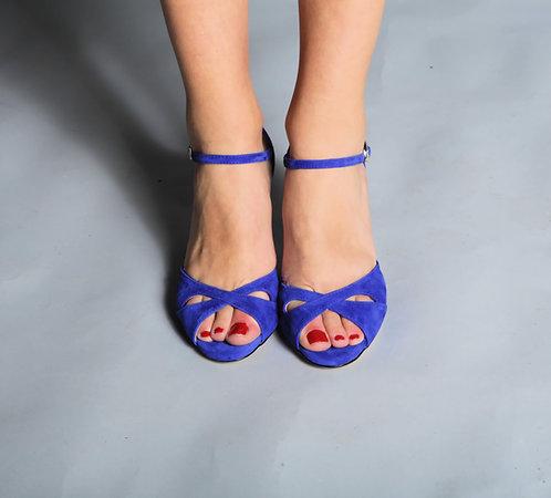 Tango Moment Royal Blue Suede 5cm/7.5cm/9cm