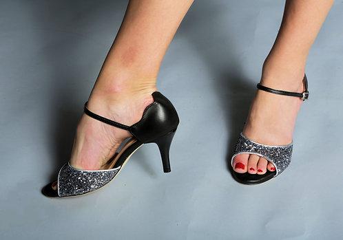 Tango Moment Black Leather&Glitter 5cm/7.5cm/9cm