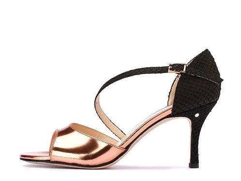 Madame Pivot CHARLOTTE Magnolia - black laminated leather