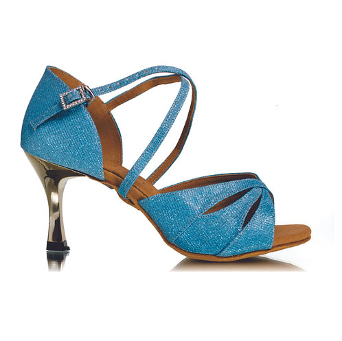 BD Dance Professional Latin Salsa Shoes- Turquoise