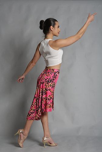 Tango Moment Milonga Skirt Pink Leopard