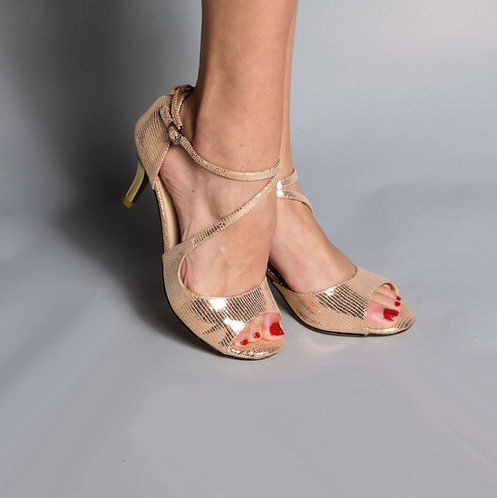 Tango Moment Rose Gold Leather 5cm/7.5cm/9cm