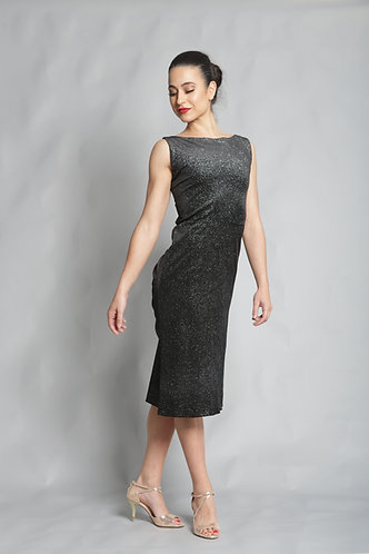 Tango Moment Velvet Dress - Black