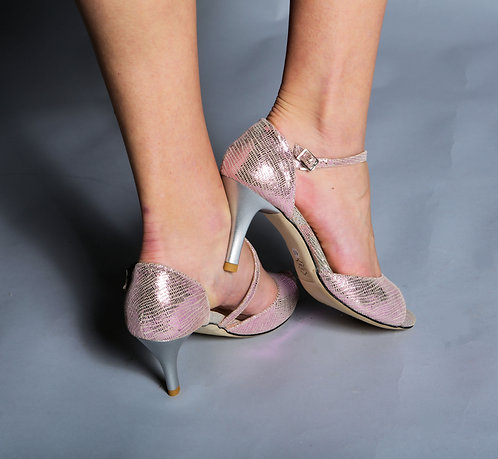 Tango Moment Pink Pearlescent Leather Diagonal 5cm/7.5cm/9cm