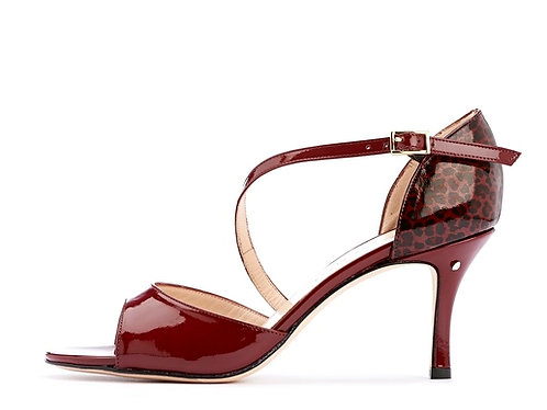 Madame Pivot CHARLOTTE Bordeaux patent leather