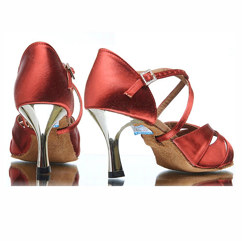 BD Dance Professional Latin Salsa Shoes - Burgundy
