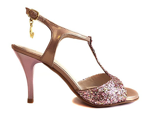 TURQUOISE M19 PINK GLITTER - SOFT SOLE - 7.5CM
