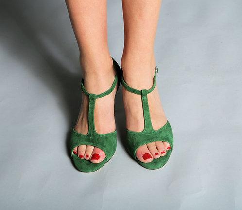 Tango Moment Emerald Suede 5cm/7.5cm/9cm