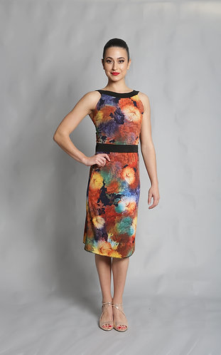 Tango Moment Milonga Dress Sunflower