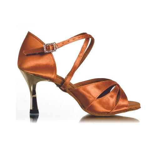 BD Dance Professional Latin Salsa Shoes - Dark Tan