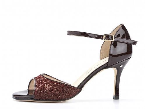 Madame Pivot CLASSICO Bordeaux glitter
