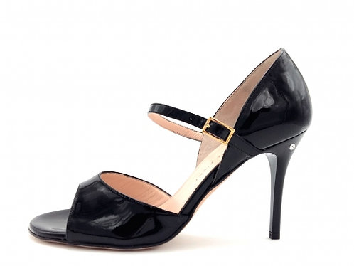 Madame Pivot GLORIA Black patent leather