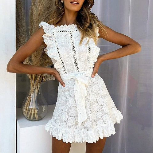 White Lace Dress Women - summer dress