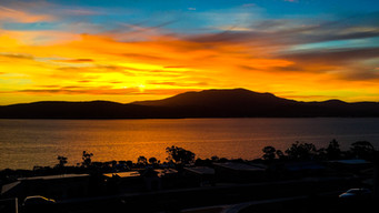 Sunset over Mt Wellington