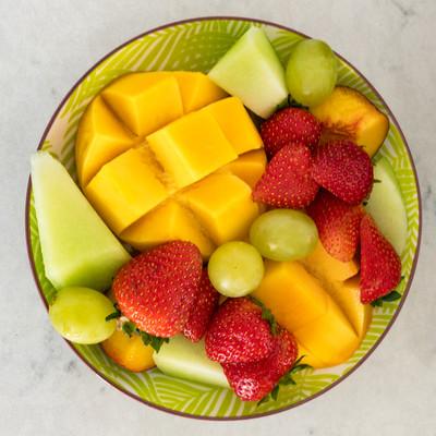 Seasonal Fruit plate at Oceana B&B