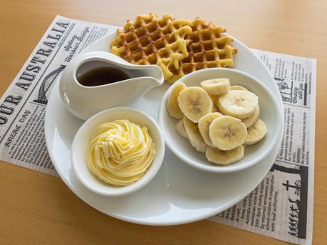 Delicious Breakfast items at Oceana B&B