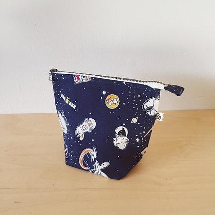 Small Zipper Project Bag - Galaxy