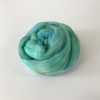AQUA - 2 oz. of Hand-dyed Merino Roving for Weaving, Spinning, or Felting