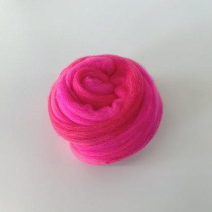 FUCHSIA - 2 oz. of Hand-dyed Merino Roving for Weaving, Spinning, or Felting