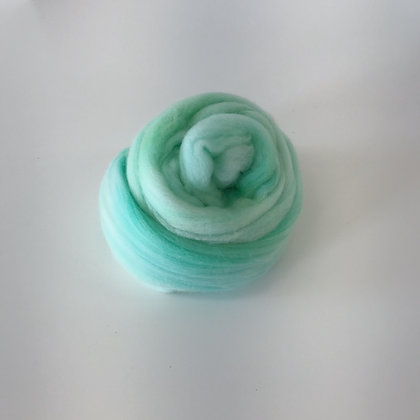 SEAFOAM - 2 oz. of Hand-dyed Merino Roving for Weaving, Spinning, or Felting