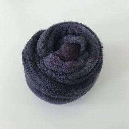 MIDNIGHT - 2 oz. of Hand-dyed Merino Roving for Weaving, Spinning, or Felting