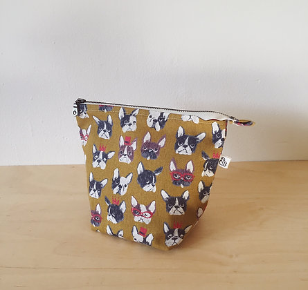 Small Zipper Project Bag - Dogs
