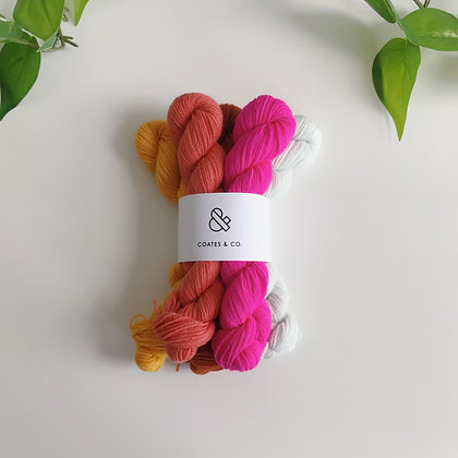 Mini Skein Set - Meadowland Sock - Fingering/Sock Weight - Non-superwash Merino