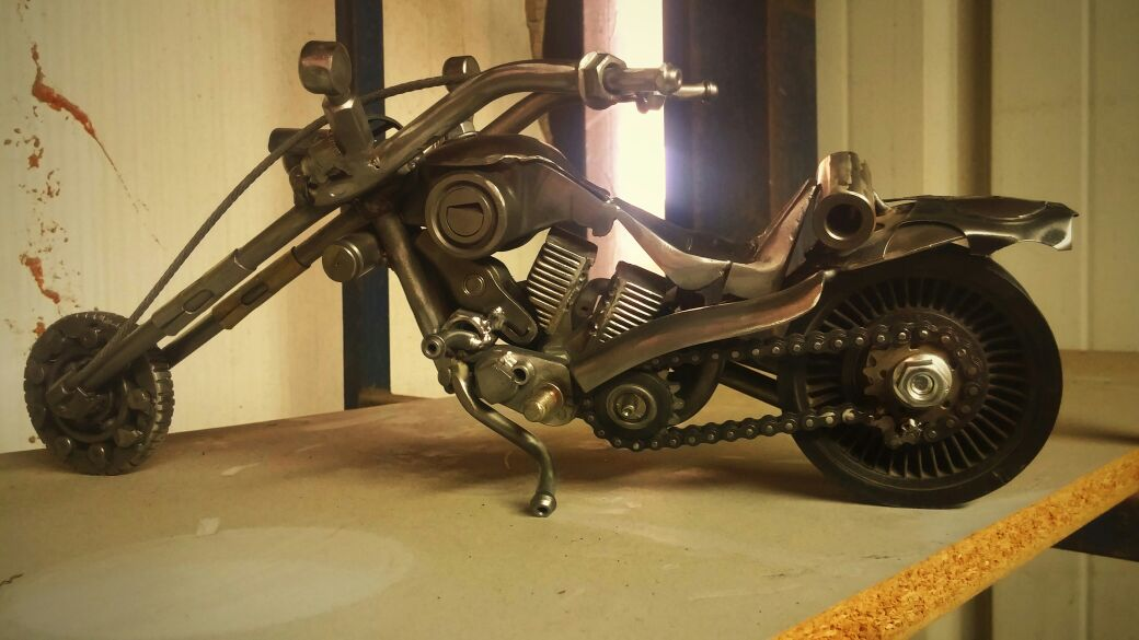 steampunk metal art