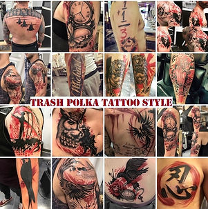 TRASH POLKA TATTOOS