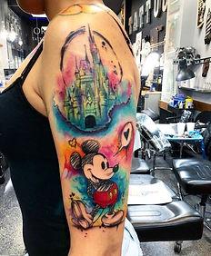 "watercolor tattoo by Luis Farrera ״ pretty boy"""