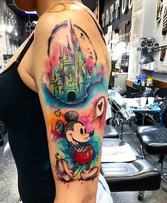 watercolor tattoo by Luis Farrera ״ pretty boy""