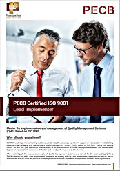ISO 9001 Lead Implementer for May 2020 T