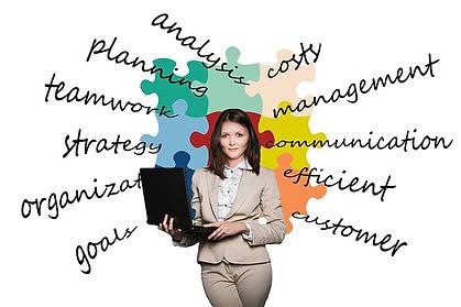 analysis, strategy, teamwork, organization, customer, communication, costs, cost, management, lady holding laptop, business woman
