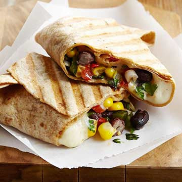Black Bean Queso Wraps