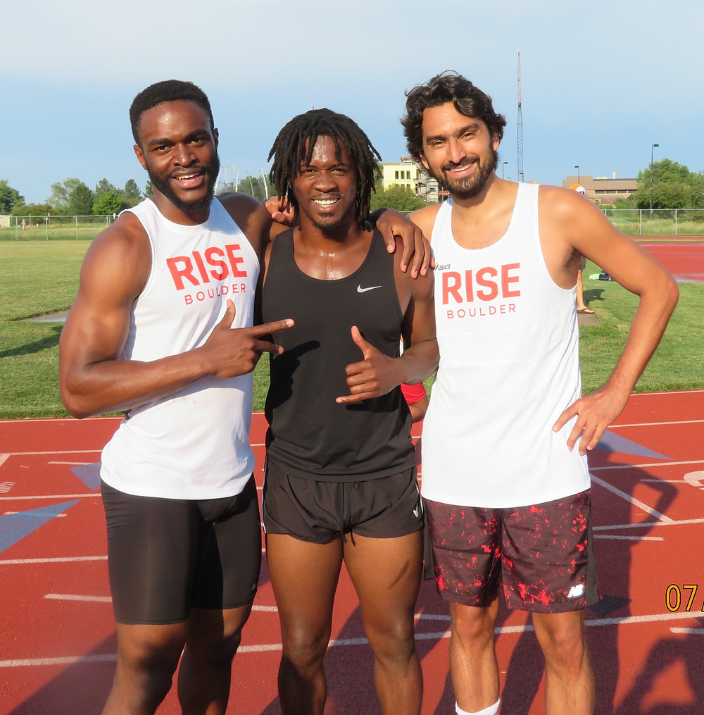 Coach Morgan (left) with Antwoine and Jess