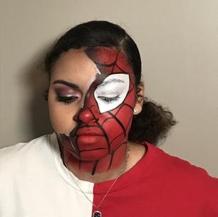 Spider-Man Half Face