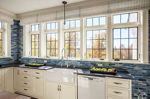 kitchen with lots of windows