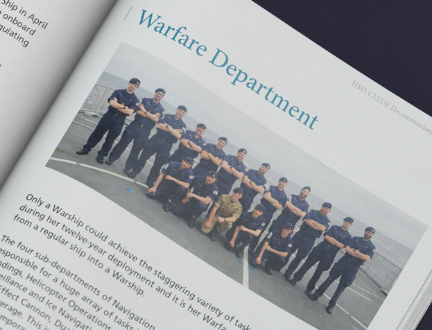 HMS CLYDE Decomissioning Book pages 8-9_