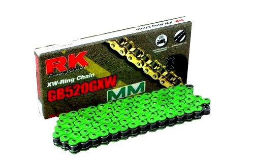 RK XW-RING VERDE 520GXW CATENA APERTA CON RIVETTO A BATTUTA