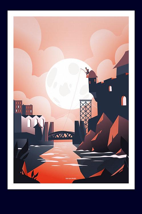 Brest sous la lune