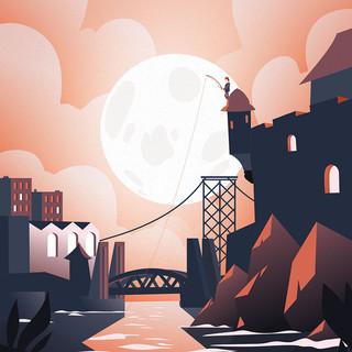 EOR GLAS STUDIO | Brest sous la lune