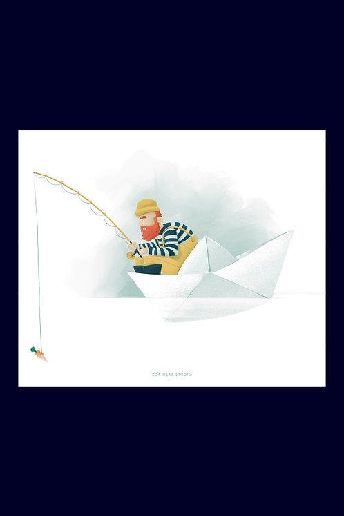 Le pêcheur en papier