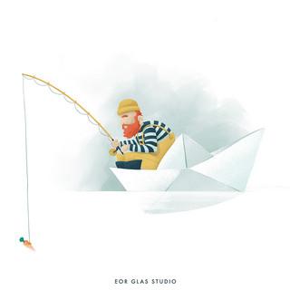 EOR GLAS STUDIO | Petit pêcheur