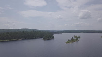 Lac Matte en drône. Photo de M.Morin