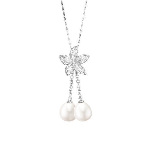 Flower 純銀淡水珍珠吊墜