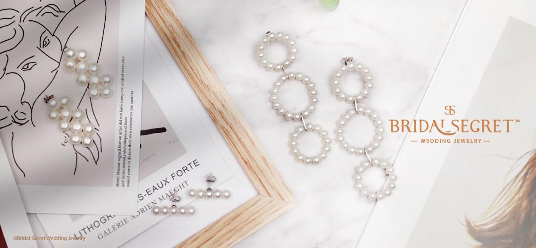 OOO-養殖淡水珍珠配純銀耳環