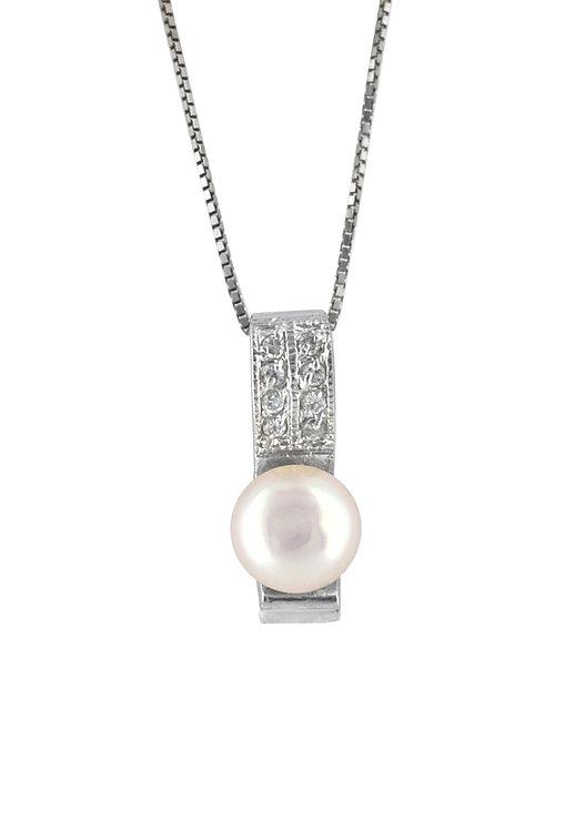 Pearl Lady 純銀鋯石吊墜