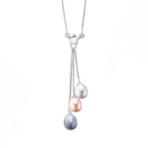Starry-淡水珍珠純銀吊墜
