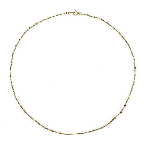 美國14K 包金純銀珠仔鏈18英寸 (兩種戴法: 頸鏈或手鏈)