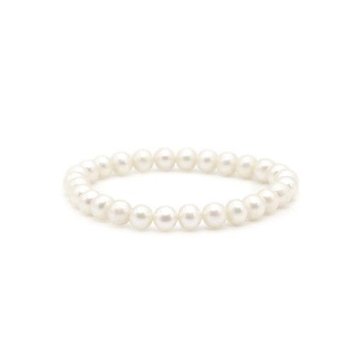 白色淡水珍珠手鏈